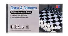 Chess & Checker Folding Magnetic Board