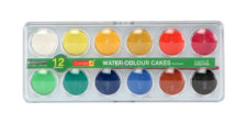 Camel Student' Water Color Cakes 12 Shades