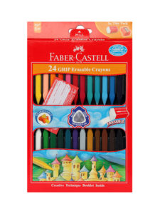 Faber Castel 24 Grip Erasable Crayons