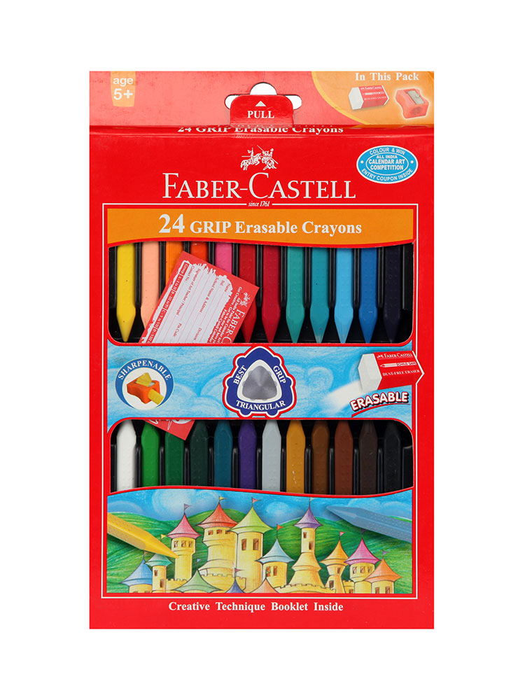 Buy Faber Castell 24 Grip Erasable Crayons Online In India