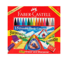Faber Castel Grip Erasable Crayons 110mm 15 Colors