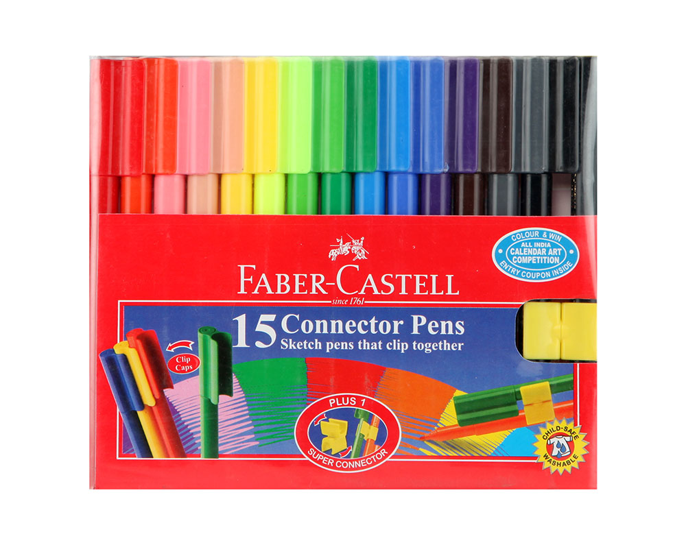 Buy Faber Castell Connector Pen Pack Of 15 Online In