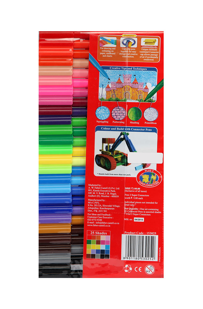 Buy Faber Castell Connector Pen (Pack of 25) Online In India • Kheliya Toys