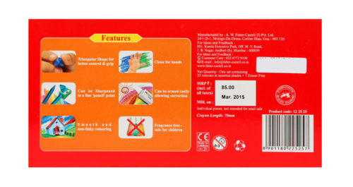 Faber Castell Erasable Crayons 25 Colors 70mm