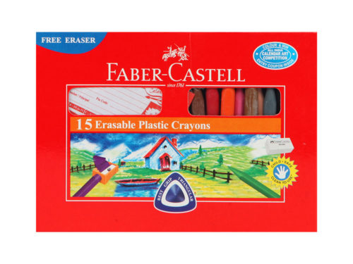 Faber Castell Erasable Crayons 70mm 15 Colors
