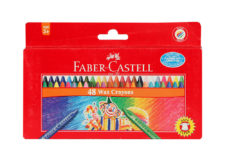 Faber Castell Wax Crayons Long 48 Colors 75mm