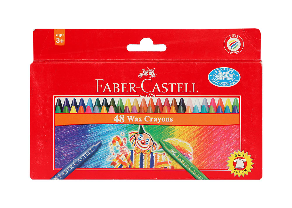 Buy Faber Castell Wax Crayons Long 48 Colors 75mm Online