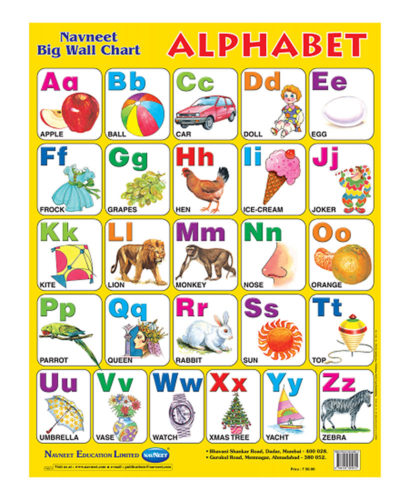 Buy Navneet Alphabets Big Wall Chart Online In India