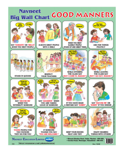 Buy Navneet Good Manners Big Wall Chart Online In India
