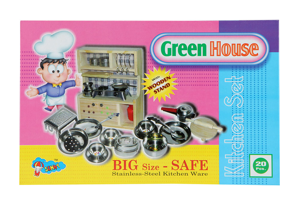 Buy Sunny Green House Stainless Steel Kitchen Set Online In India