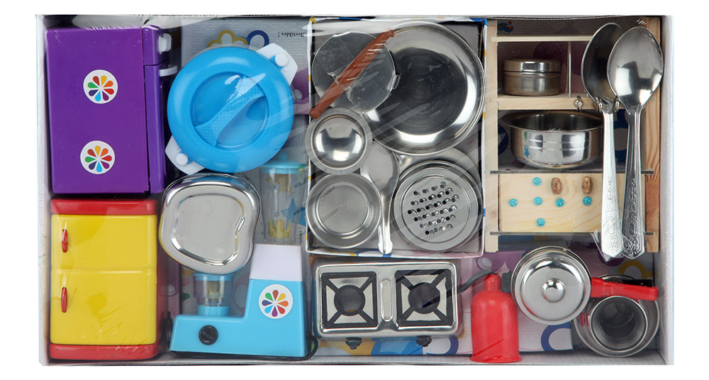 Buy sunny india today kitchen set stainless steel online for Kitchen set toys divisoria