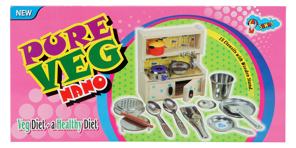 Buy Sunny Nano Pure Veg Kitchen Set Online In India Kheliya Toys