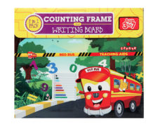 Zephyr Counting Frame Board Red Bus