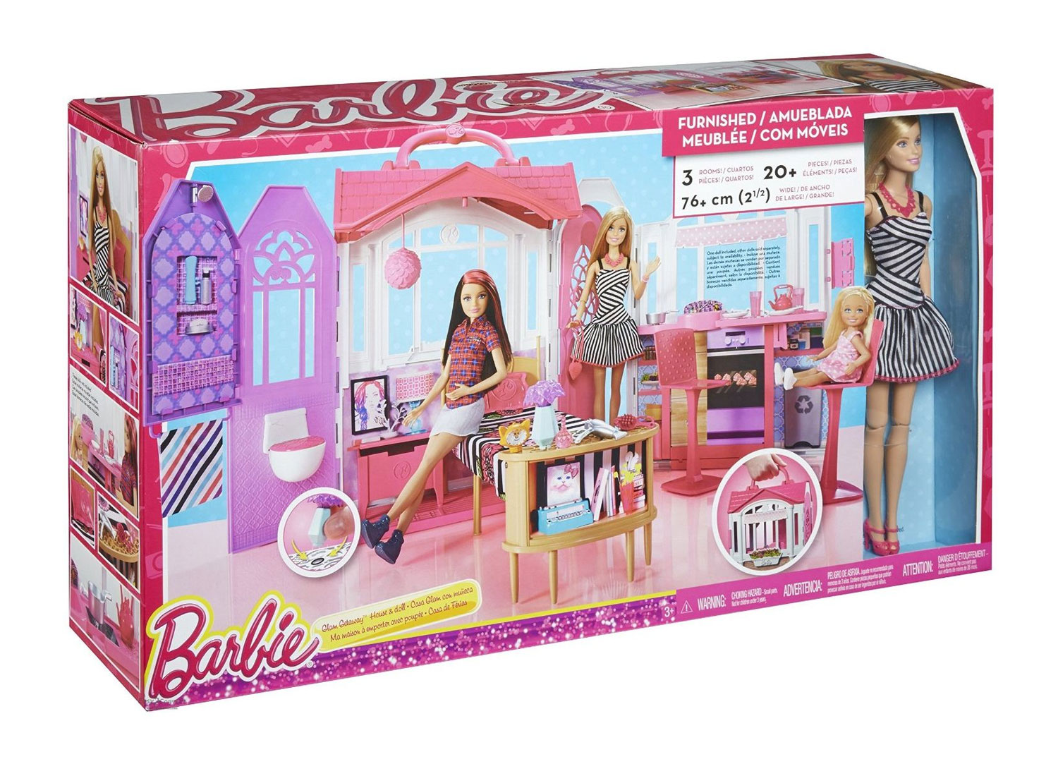 Buy barbie glam gateway house online in india kheliya toys for All barbie house decoration games