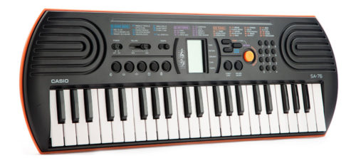 Casio Electronic Keyboard Sa-76 With Charger
