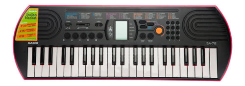 Casio Electronic Keyboard Sa-78 With Charger