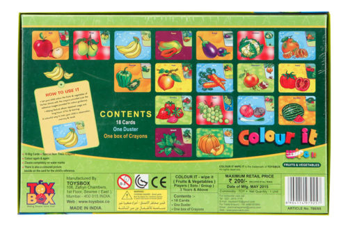 Colour It Wipe It - Fruits And Vegetables