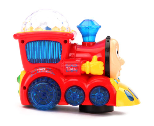 Light Train Musical Engine With 3D Lights (Red)