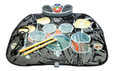 Musical Drum Kit Playmat With Drum Sticks