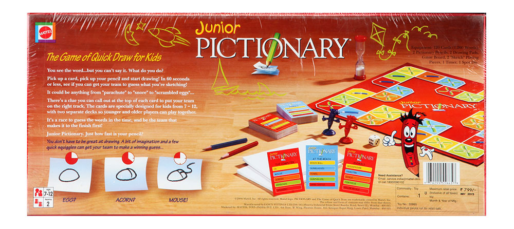 Buy Pictionary The Game Of Quick Draw Junior Online In India