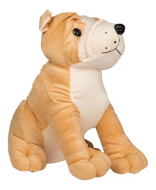 Bull Dog Sitting 30cm Brown