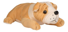 Bull Dog Sleeping 25cm Brown