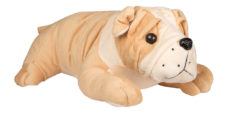 Bull Dog Sleeping 30cm Brown