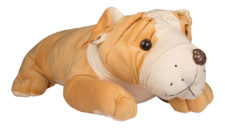 Bull Dog Sleeping 50cm Brown