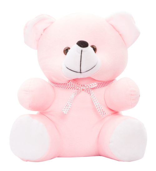 Cuddly Bear Large 30cm Pink And White