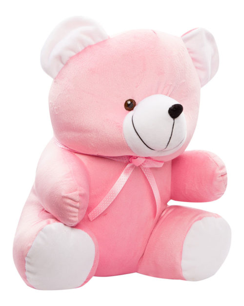 Cuddly Bear X-Large 39cm Pink And White