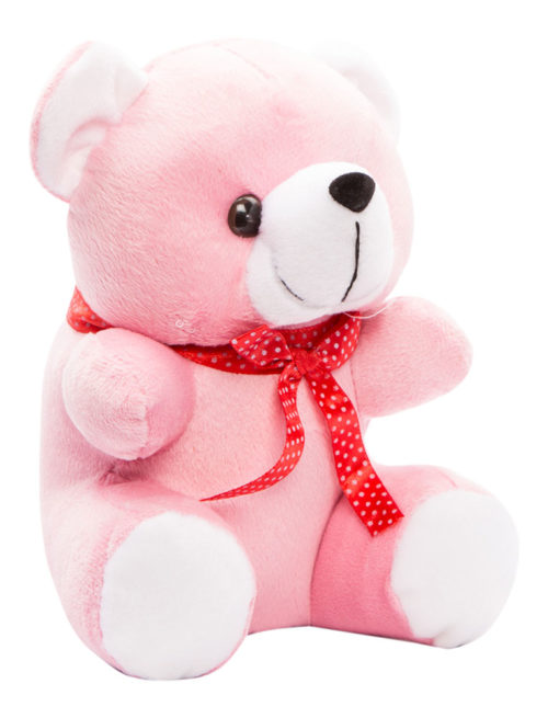 Cuddly Small 18cm Dark Pink And White