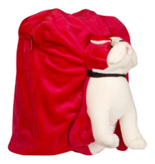 Dog Bag 32cm Red And White