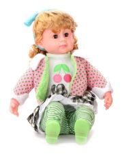 Doll With Blinking Eyes That Sings Five Poems - Multicolour With Ribbon