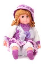 Doll With Blinking Eyes That Sings Five Poems - Purple With Cap