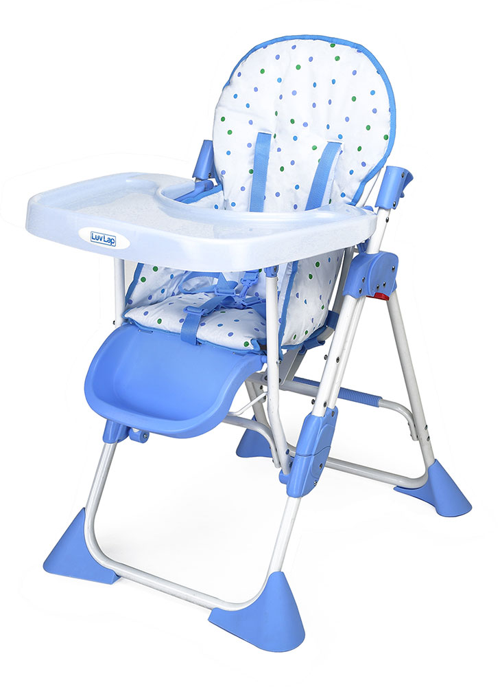 Buy Luvlap Baby High Chair 8083 Comfy Blue Online In India