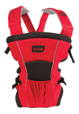 LuvLap Blossom Baby Carrier Black-Red