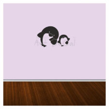 Baby Penguin Wall Decal Single Colour Kd1007