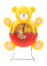 Bear Table Clock - Red/Yellow