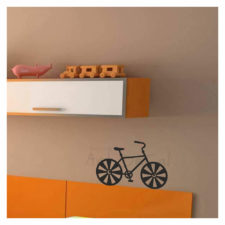 Bicycle Wall Decal Single Colour Kd1034