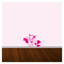 Cat Wall Decal Single Colour Kd1038