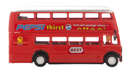 Double Decker Bus Pull Back Deluxe