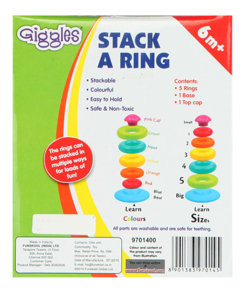 Giggles Stack A Ring By Funskool