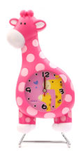 Giraffe Table Clock Small - Pink