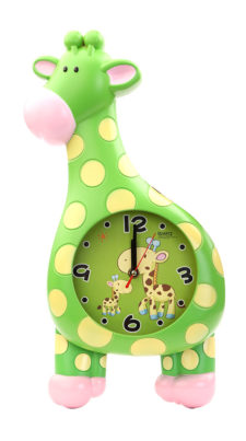 Giraffe Wall Clock - Green