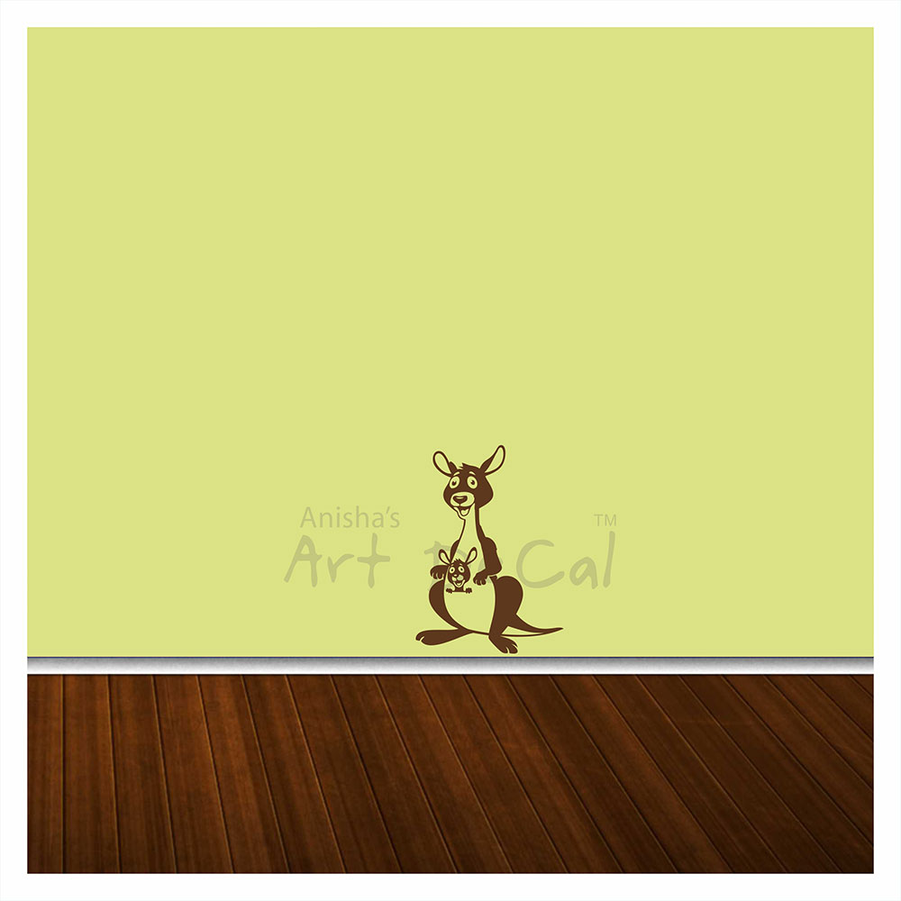 Buy Kangaroo Wall Decal Single Colour Kd037 Online In