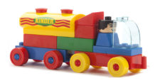 Kinder Blocks Car Tanker Dumper Set