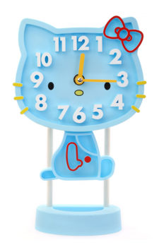 Kitty Table Clock - Sky Blue
