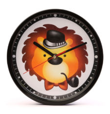Quartz Lion Hat - Black Wall Clock