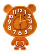 Rabbit Small Wall Clock - Brown