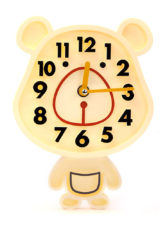 Rabbit Small Wall Clock - Cream